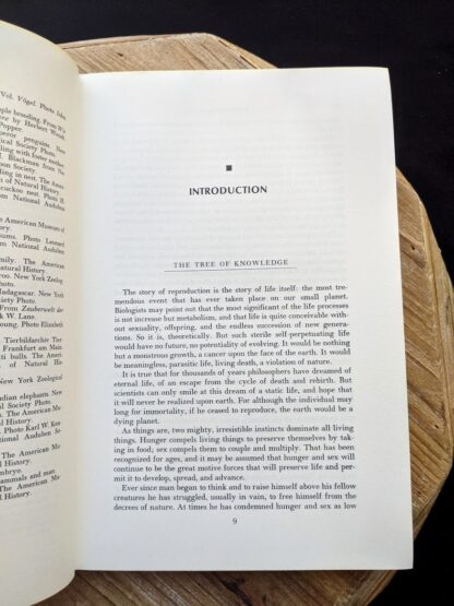 Introduction inside a 1965 copy of The Sex Life of the Animals by Herbert Wendt - First Printing