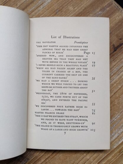 List of illustrations page 1 of 2 inside a 1929 A Book of Seamen by F. H. Doughty - First Edition