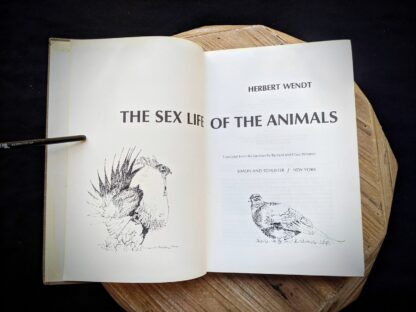 Title Page - 1965 The Sex Life of the Animals by Herbert Wendt - First Printing
