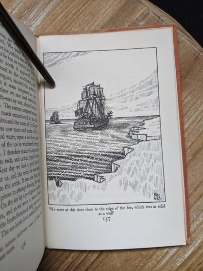illustration of a ship close to ice in a 1929 copy of A Book of Seamen by F. H. Doughty - First Edition