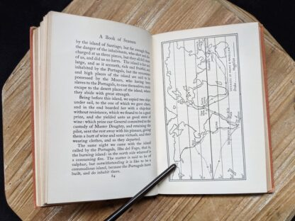 map of the voyages of Drake and Magellan in a 1929 copy of A Book of Seamen by F. H. Doughty - First Edition