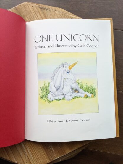 Title Page - 1981 One Unicorn written and illustrated by Gale Cooper - First Edition