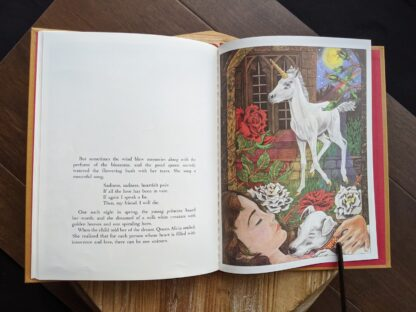illustration inside a 1981 copy of One Unicorn written and illustrated by Gale Cooper - First Edition with dustjacket