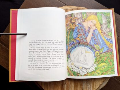 illustration of Alicia and the unicorn - 1981 One Unicorn - written and illustrated by Gale Cooper - First Edition
