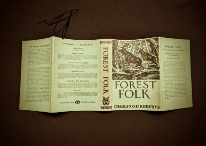 Dustwrapper on a 1949 copy of Forest Folk by Charles G.D. Roberts