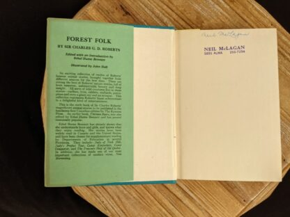 Front endpaper inside a 1949 copy of Forest Folk by Charles G. D. Roberts - First edition