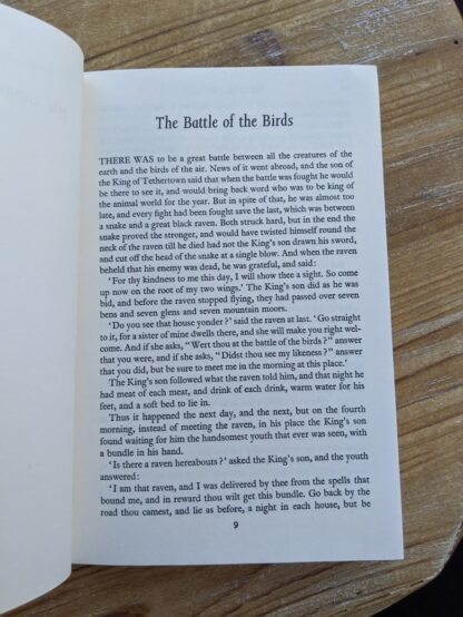 The Battle of the Birds - The Rainbow Fairy Book - Andrew Lang - rare 1977 Second Edition