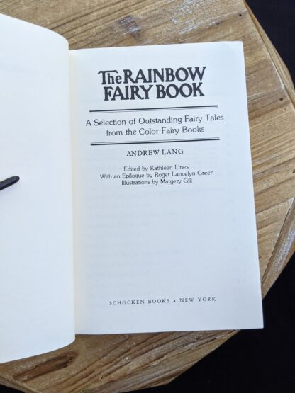 Title Page of The Rainbow Fairy Book - Andrew Lang - rare second 1977 edition