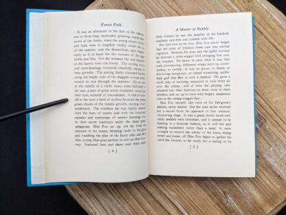 pages inside a 1949 copy of Forest Folk by Charles G. D. Roberts - First edition
