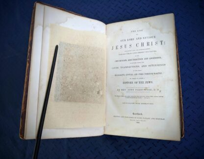 1845 The Life of our Lord and Saviour Jesus Christ by Rev. John Fleetwood -Title Page