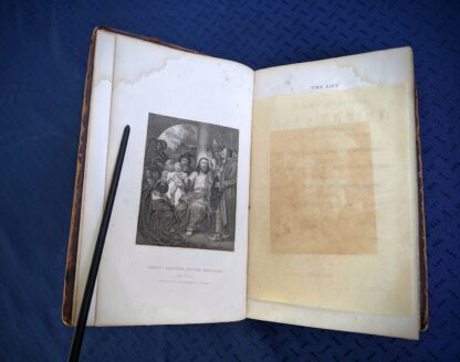 1845 The Life of our Lord and Saviour Jesus Christ by Rev. John Fleetwood -lithograph adjacent to title page