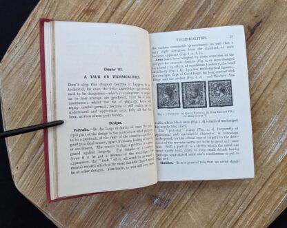 A talk on technicalities - Chapter 3 inside a circa 1910 copy of Stamp Collecting - A Guide for Beginners by A. B. Creeke - Circa 1910