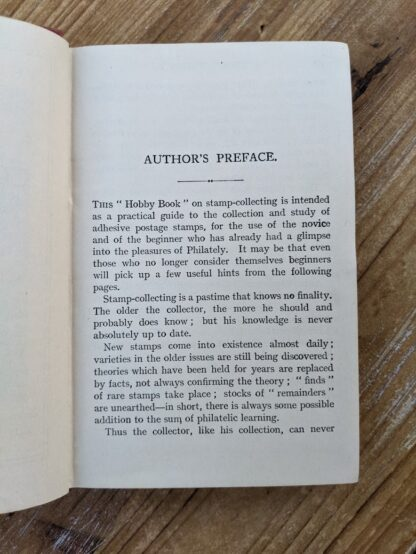 Author's Preface - Stamp Collecting - A Guide for Beginners by A. B. Creeke - Circa 1910