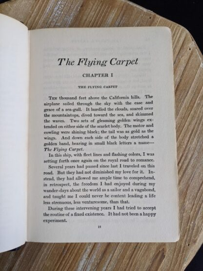 Chapter 1 inside a 1932 copy of The Flying Carpet by Richard Halliburton - First Edition