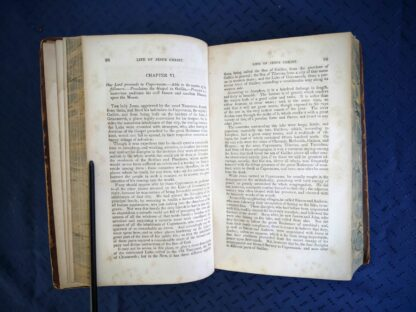 Chapter 6 inside a 1845 copy of The Life of our Lord and Saviour Jesus Christ by Rev. John Fleetwood