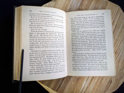 Over the Matterhorn inside a 1932 copy of The Flying Carpet by Richard Halliburton - First Edition