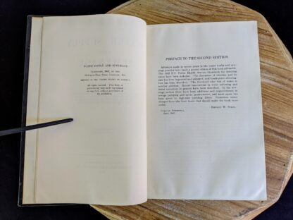 Preface inside a 1947 copy of Water Supply and Sewerage by Ernest W. Steel - second Edition