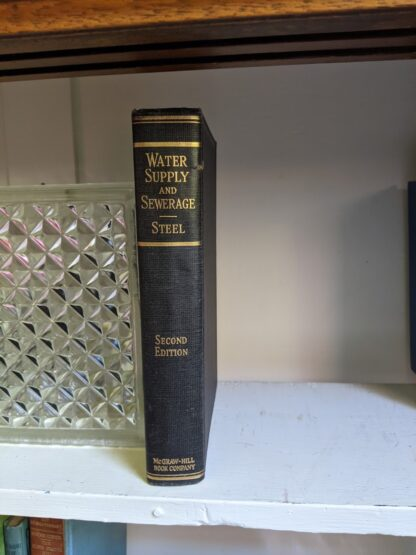 Spine view - 1947 Water Supply and Sewerage by Ernest W. Steel - second Edition
