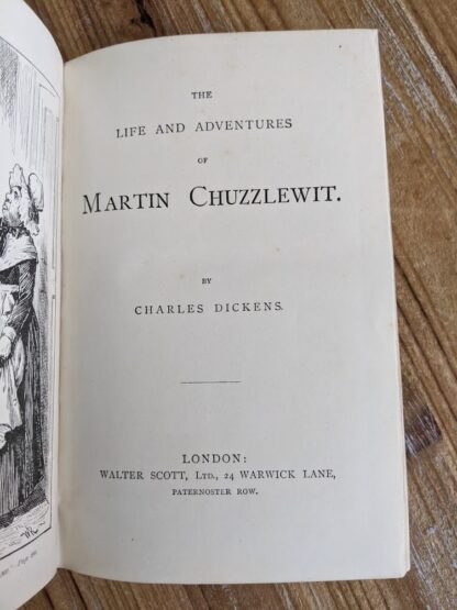 Title Page up close - The Life and Adventures of Martin Chuzzlewit by Charles Dickens - Circa 1880's - undated