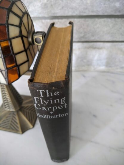 Top edge of the textblock on a 1932 Copy of The Flying Carpet by Richard Halliburton - First Edition