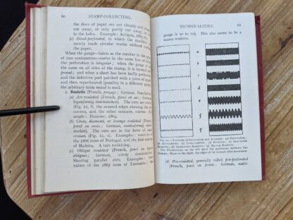 Varieties of Perforation and roulette - Stamp Collecting - A Guide for Beginners by A. B. Creeke - Circa 1910