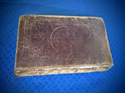 front panel and spine edge - 1845 The Life of our Lord and Saviour Jesus Christ - by Rev John Fleetwood