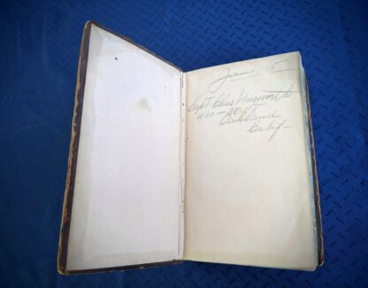 front pastedown and endpaper inside a 1845 copy of The Life of our Lord and Saviour Jesus Christ by Rev. John Fleetwood
