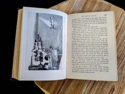 photograph of the Grand Canal inside a 1932 copy of The Flying Carpet by Richard Halliburton - First Edition