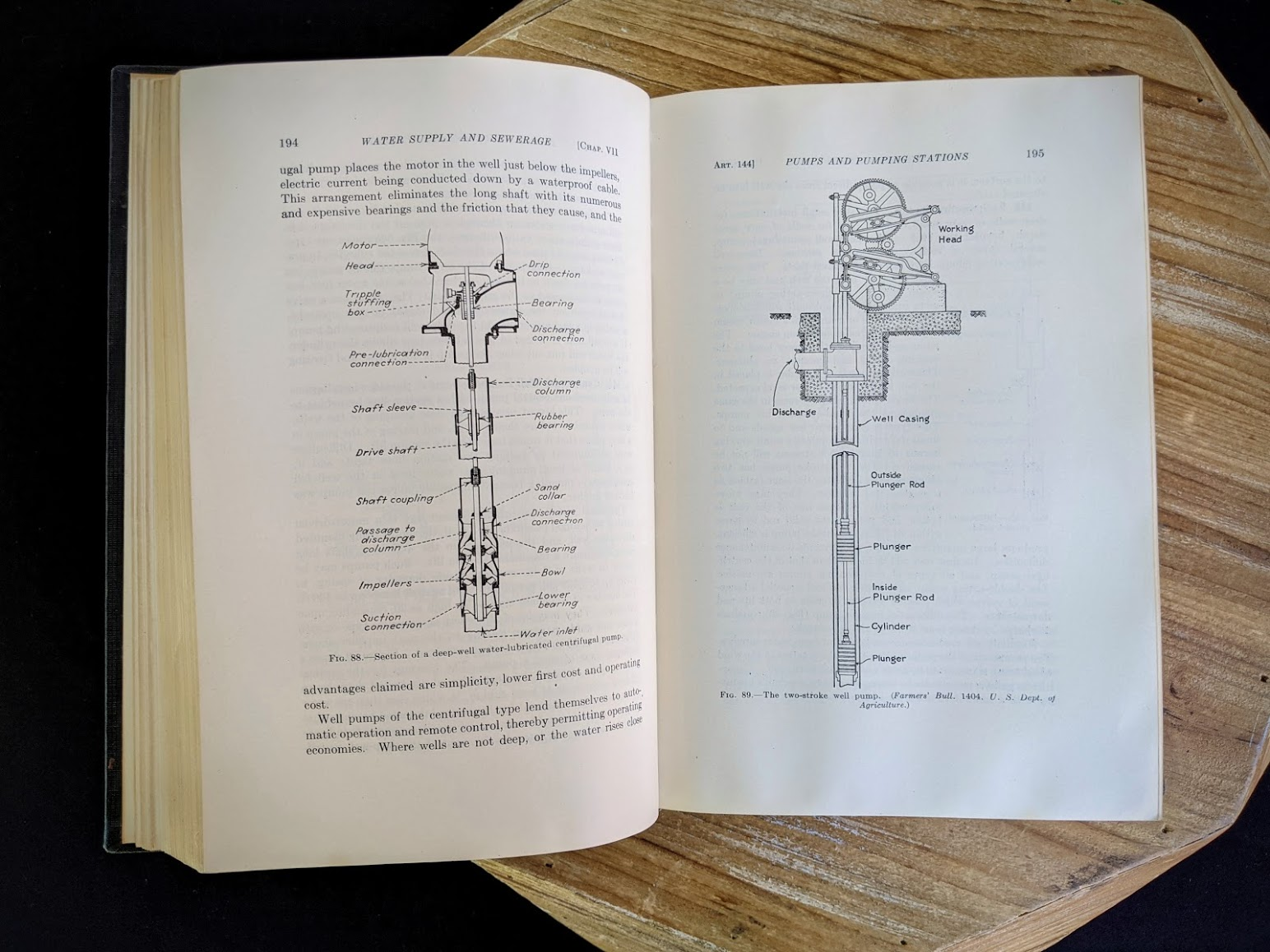 pumps and pumping stations diagram - 1947 Water Supply and Sewerage by Ernest W. Steel - second Edition