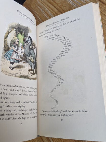 A Caucus-Race and a Long Tale - 1946 Alice's Adventures in Wonderland - Two Volumes - by Lewis Carroll. Published by Random House, New York - Special Edition
