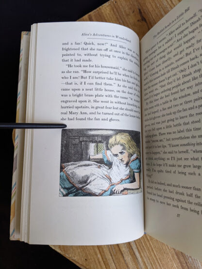 Color illustration by John Tenniel inside a 1946 Alice's Adventures in Wonderland - Two Volumes - by Lewis Carroll. Published by Random House, New York - Special Edition