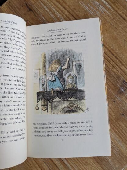 Color illustration by John Tenniel inside a 1946 Through The Looking-Glass - Two Volumes - by Lewis Carroll. Published by Random House, New York - Special Edition