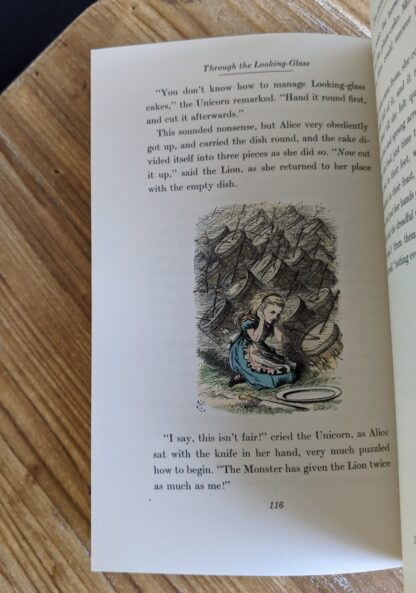 Colour illustration by John Tenniel - 1946 Through The Looking-Glass - Two Volumes - by Lewis Carroll. Published by Random House, New York - Special Edition