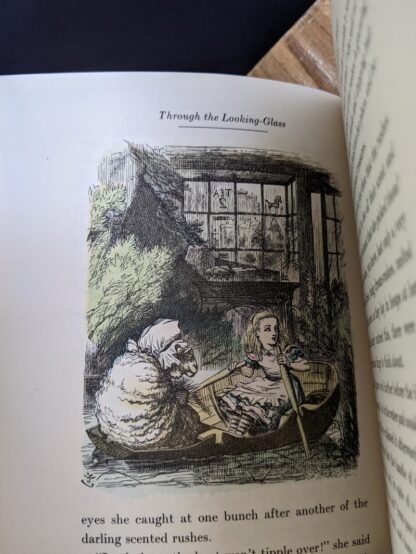 Colour illustration by John Tenniel inside a 1946 Through The Looking-Glass - Two Volumes - by Lewis Carroll. Published by Random House, New York - Special Edition