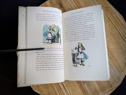 Colour illustrations by John Tenniel inside a 1946 Alice's Adventures in Wonderland - Two Volumes - by Lewis Carroll. Published by Random House, New York - Special Edition