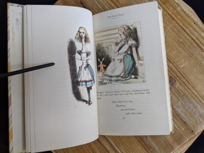 The Pool of Tears - inside a 1946 Alice's Adventures in Wonderland - Two Volumes - by Lewis Carroll. Published by Random House, New York - Special Edition- illustrations by John Tenniel